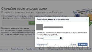 Введите пароль для скачивания вашего архива с профилем ФБ