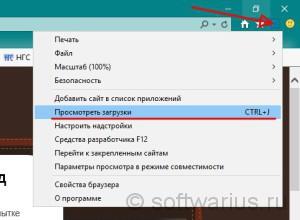 Просмотреть загрузки Internet Explorer