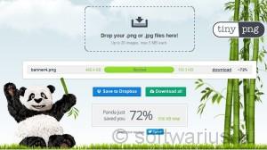 TinyPNG. Файл оптимизирован на 72%!
